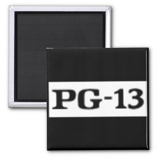 Rated PG-13, Rating System 2 Inch Square Magnet