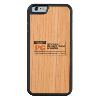 Rated PG Carved Cherry iPhone 6 Bumper Case