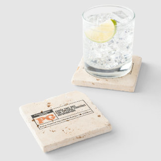 Rated PG Stone Coaster