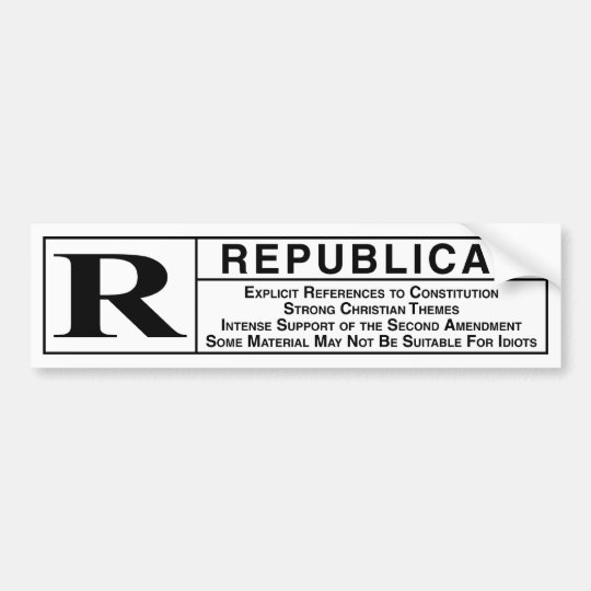 Rated r bumper sticker