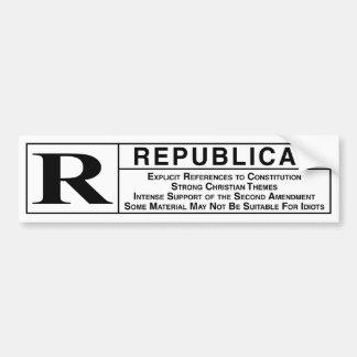 Rated R Car Bumper Sticker