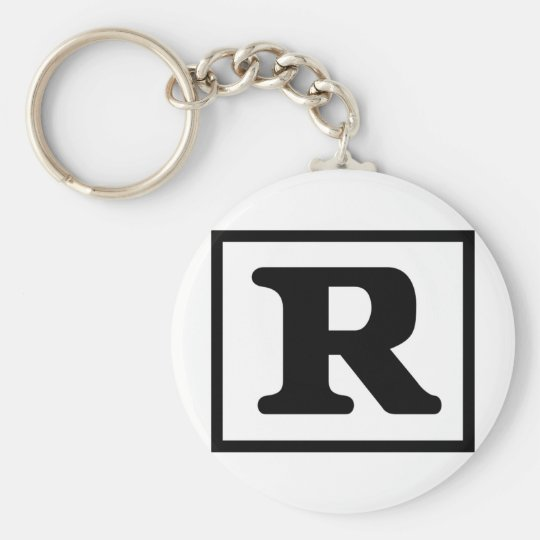 Rated R Keychain
