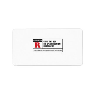 Rated R Address Label