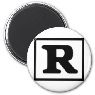 Rated R, Rating System 2 Inch Round Magnet