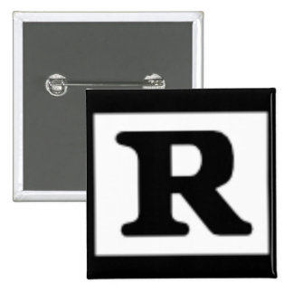 Rated R, Rating System Pinback Button