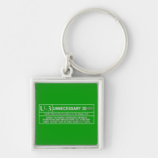 Rated U-3 Keychain