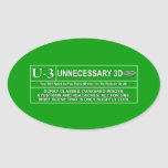 Rated U-3 Oval Stickers