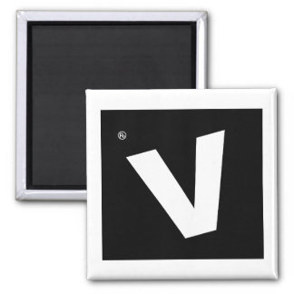 Rated V For Vomit 2 Inch Square Magnet