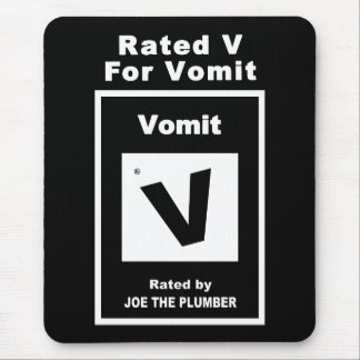 Rated V For Vomit Mouse Pad