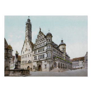 Rathaus de Rothenburg Poster