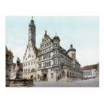 Rathaus of Rothenburg Postcard
