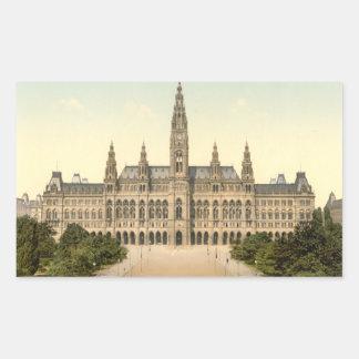 Rathaus, Vienna, Austria Rectangular Sticker