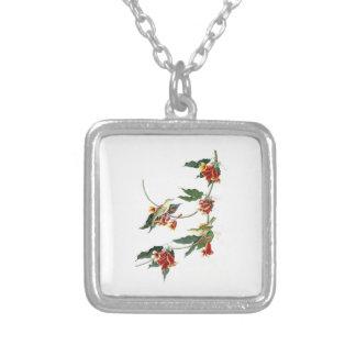 Rathbone Warbler John Audubon Birds of America Square Pendant Necklace