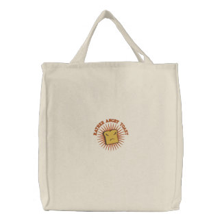 Rather Angry Toast Embroidered Tote