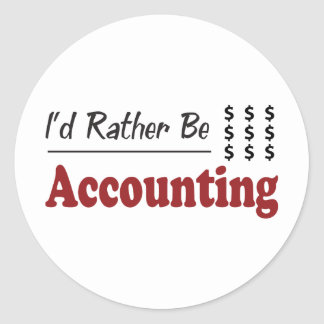 Rather Be Accounting Classic Round Sticker