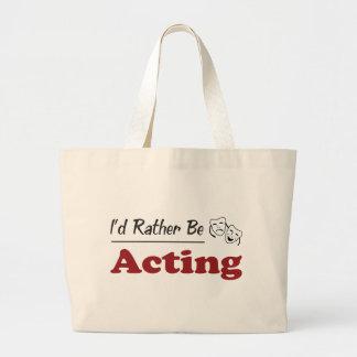 Rather Be Acting Jumbo Tote Bag