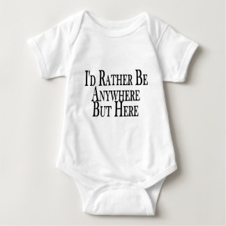 Rather Be Anywhere But Here Baby Bodysuit