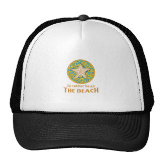 RATHER BE AT THE BEACH TRUCKER HAT