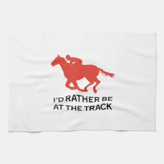 RATHER BE AT THE TRACK HAND TOWELS
