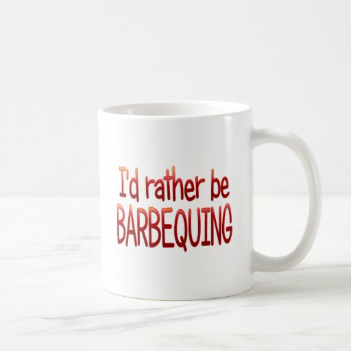 Rather be Barbequing Classic White Coffee Mug