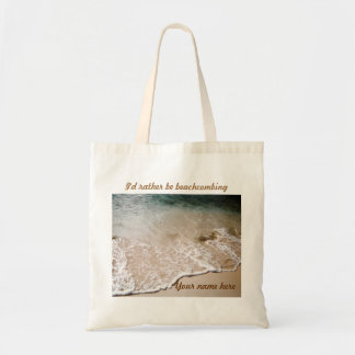 Rather be Beachcombing Name tote Bags