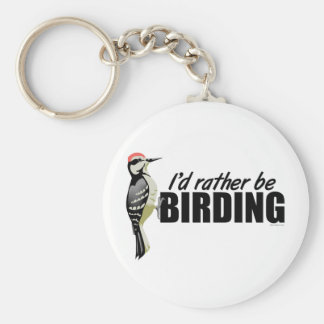 Rather Be Birding Keychain