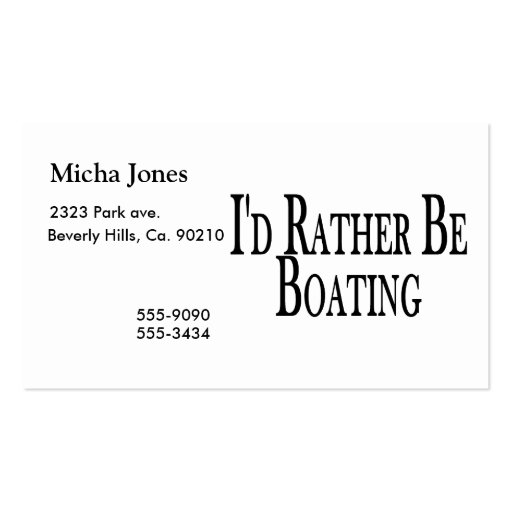 Rather Be Boating Business Cards