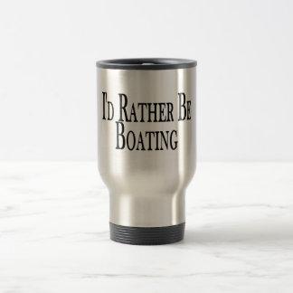 Rather Be Boating Travel Mug