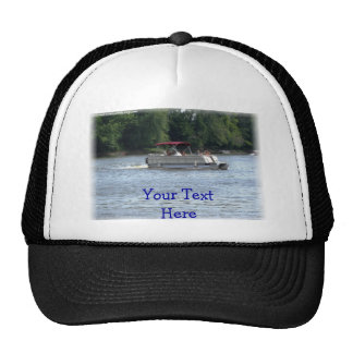 Rather Be Boating, Your Text Here Mesh Hats