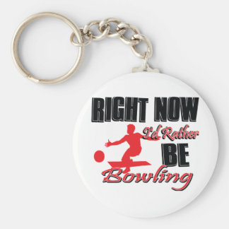 Rather be bowling keychain