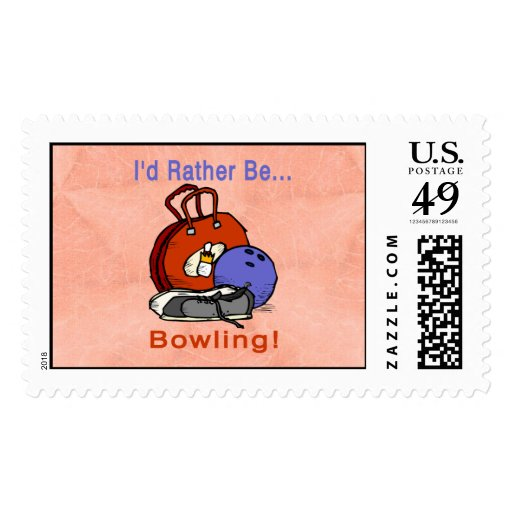 Rather Be Bowling Stamps