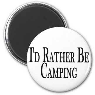 Rather Be Camping 2 Inch Round Magnet