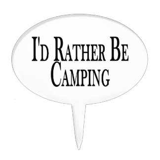 Rather Be Camping Cake Toppers