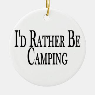 Rather Be Camping Ceramic Ornament