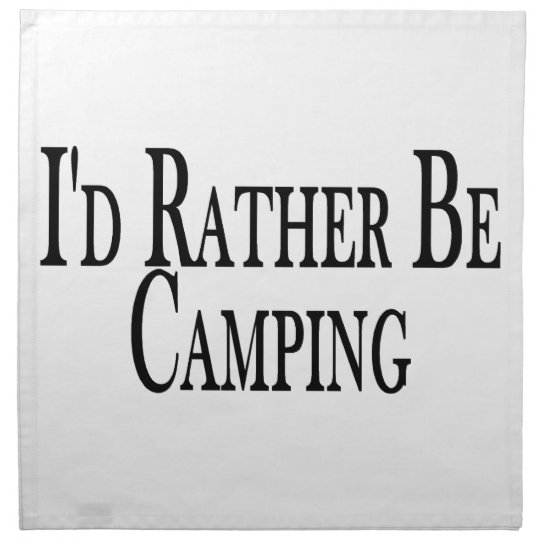 Rather Be Camping Cloth Napkin