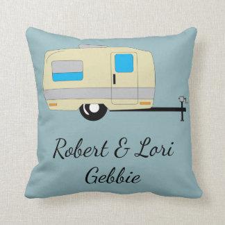 Rather Be Camping Name Throw Pillow