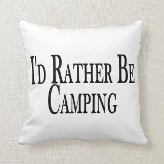 Rather Be Camping Throw Pillow