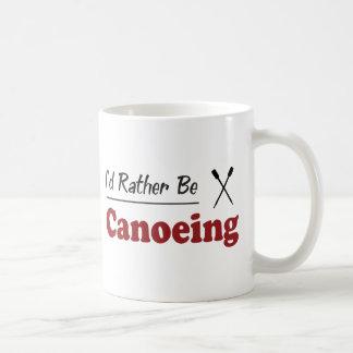 Rather Be Canoeing Classic White Coffee Mug
