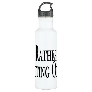 Rather Be Chatting Online 24oz Water Bottle