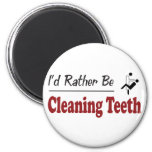 Rather Be Cleaning Teeth Fridge Magnets