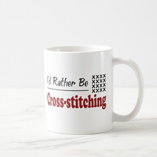 Rather Be Cross-stitching Coffee Mug