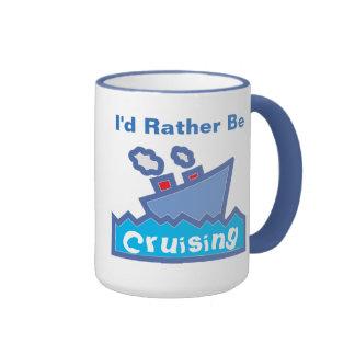 Rather be Cruising Ringer Coffee Mug