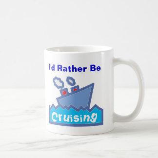 Rather be Cruising Classic White Coffee Mug