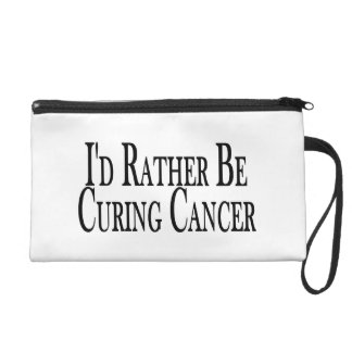 Rather Be Curing Cancer Wristlet Purse