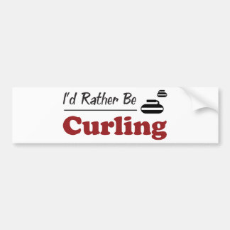 Rather Be Curling Bumper Sticker
