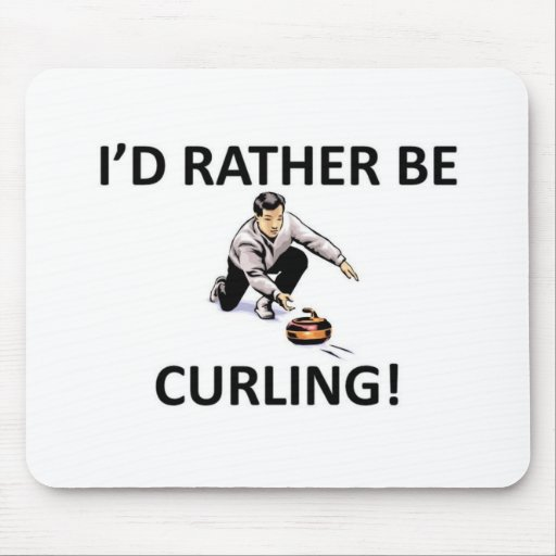 Rather be curling mousepads