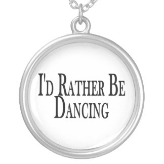 Rather Be Dancing Silver Plated Necklace