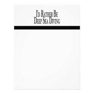 Rather Be Deep Sea Diving Letterhead