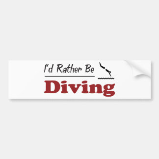 Rather Be Diving Bumper Stickers