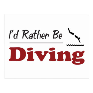 Rather Be Diving Postcard